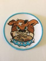 525 FS Bulldog Embroidered Badge